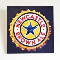 Newcastle Brown Ale Metal Wall Clock