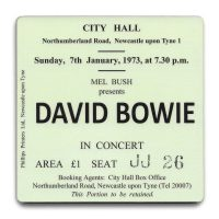 Newcastle City Hall Ticket Coaster David Bowie