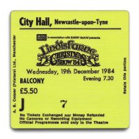 Newcastle City Hall Ticket Coaster Lindisfarne