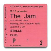 Newcastle City Hall Ticket Coaster The Jam