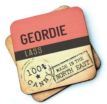 Geordie Lass Wooden Coaster