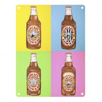 Newcastle Brown Ale Bottles Metal Sign