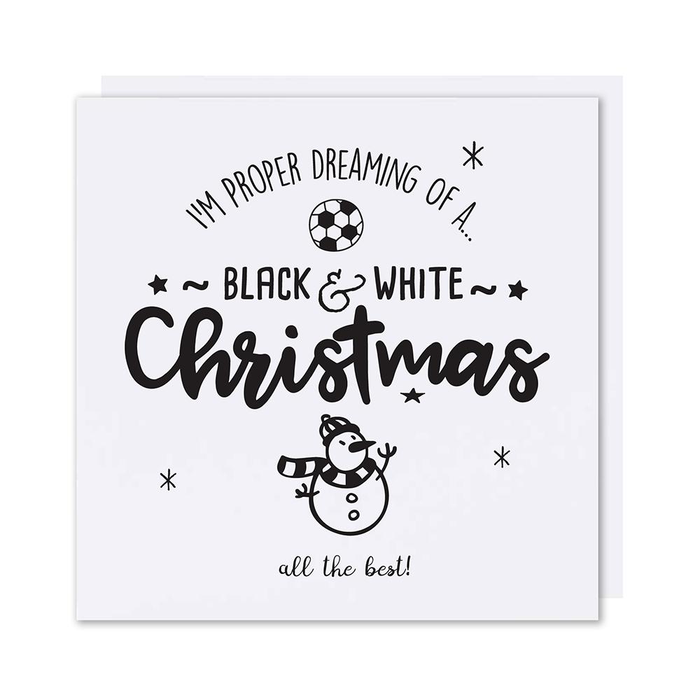 black white christmas christmas card - Black And White Christmas