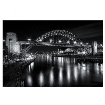 Photo Card Newcastle Quayside Bridges at Night