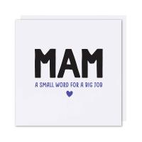 Mam Card Small Word