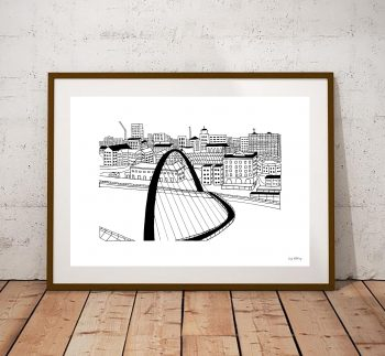 Newcastle Gateshead Millennium Bridge Print