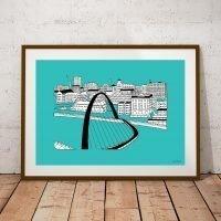 Newcastle Gateshead Millennium Bridge Print