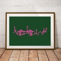 Middlesbrough Teeside Transporter Bridge Print