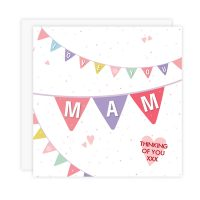 Mam Card - Love You Mam (Thinking Of You - Bunting)