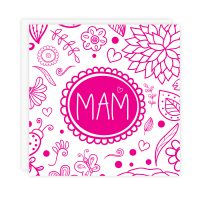 Mam Card Pink On White