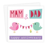 Mam and Dad Anniversary card