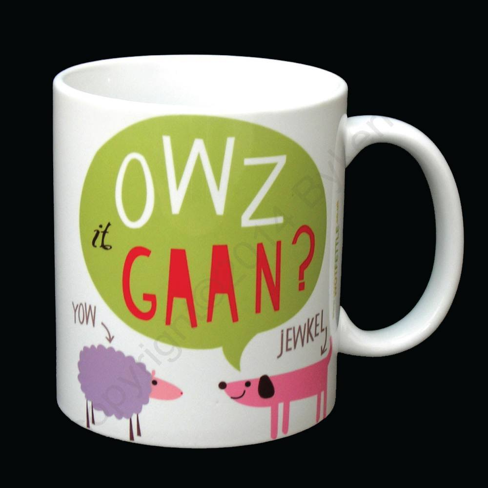Owz It Gaan Cumbrian Mug North West