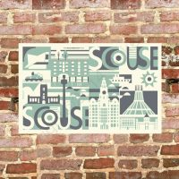 Scouse Liverpool City Tea Towel