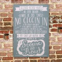 Scouse House Rules Tea Towel