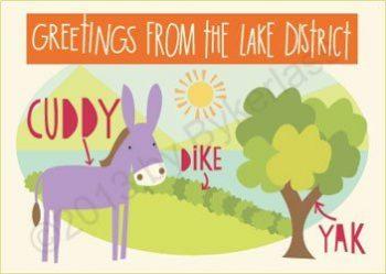 Cumbria Lake District Postcards