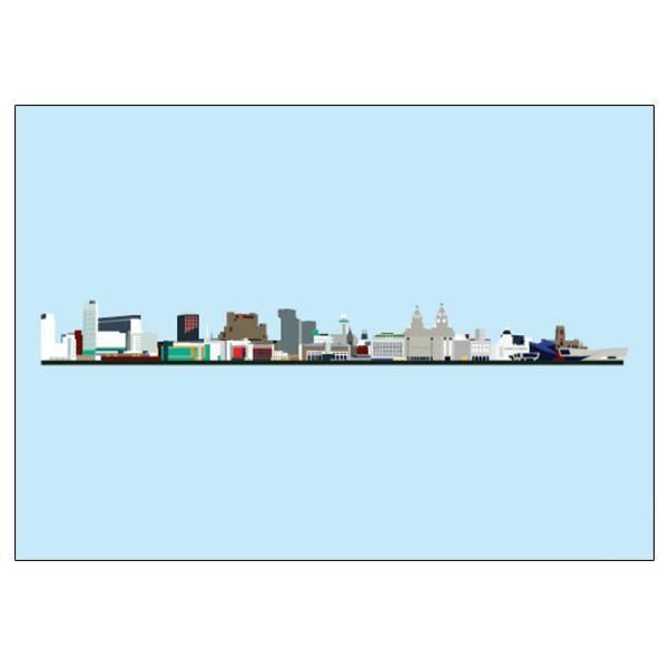 Liverpool Skyline Pop Art Card