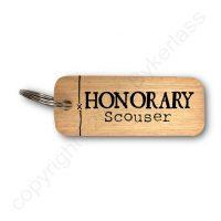 Honorary Scouser Wooden Keyring