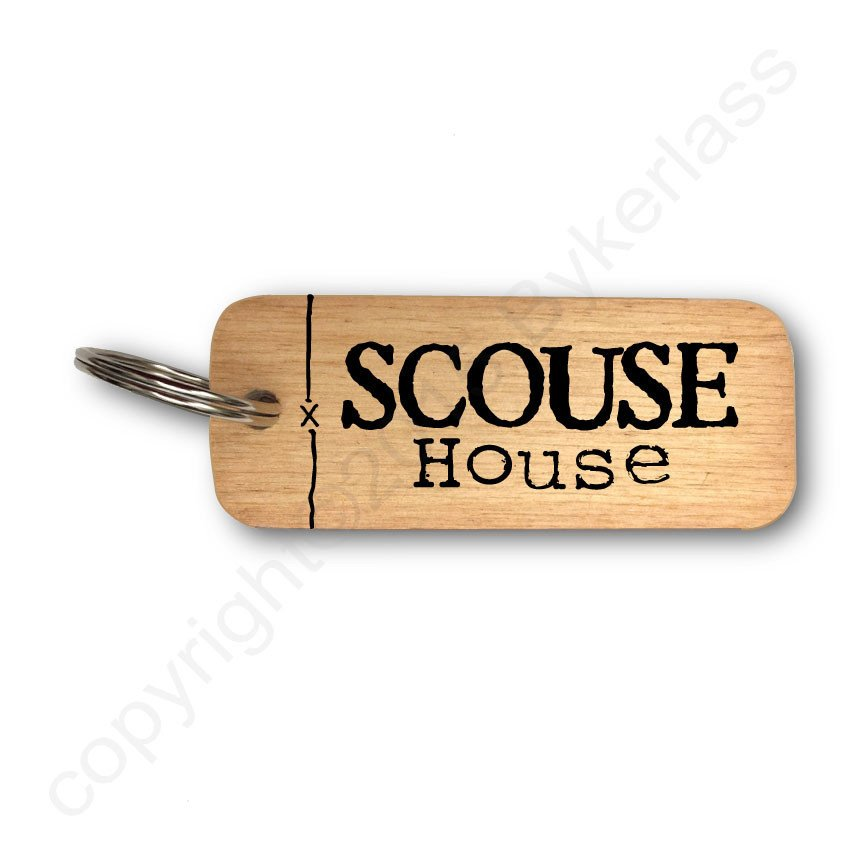 Scouse House Wooden Keyring
