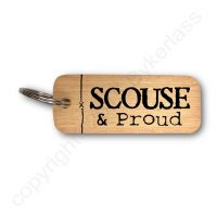 Scouse & Proud Wooden Keyring